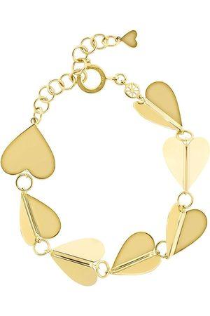 Cadar 18kt yellow Wings of Love solid hearts bracelet