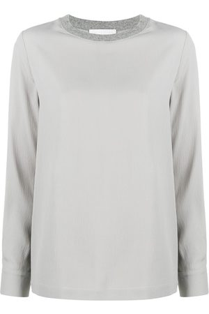 Fabiana Filippi Ribbed square neck blouse