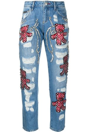 Philipp Plein Boyfriend Teddy Bear jeans