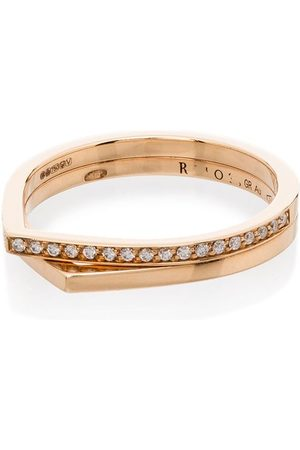 Repossi 18kt Antifer diamond double ring