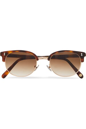 Cubitts Twyford Round-Frame Acetate and Gold-Tone Sunglasses