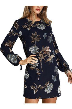 YOINS Dark Random Floral Print Dress