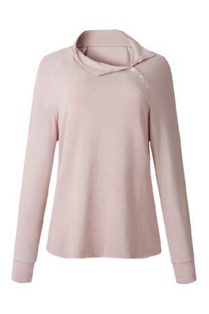 YOINS Pink Button Design Long Sleeves Sweatshirt
