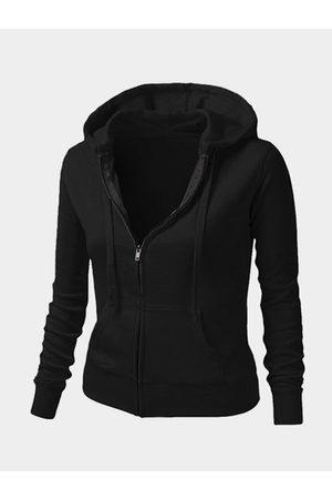 YOINS Hooded Design Long Sleeves Zip Front Coat