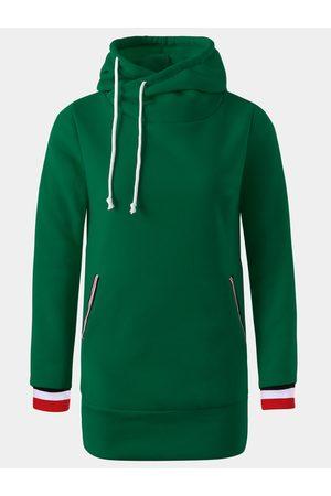 YOINS Hooded Design Pullover Long Sleeves Hoodie