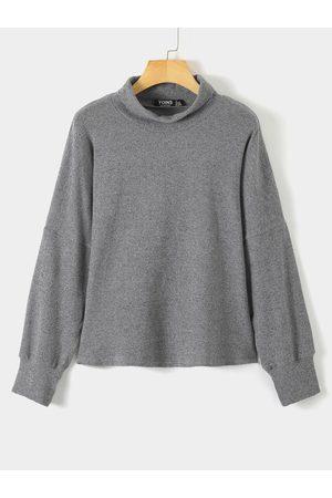 YOINS Turtleneck Long Sleeves Sweatshirt