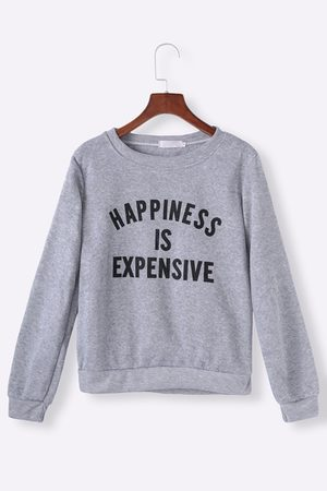 YOINS Casual Letter Print Sweatshirt