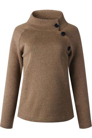 YOINS Button Design Turtleneck Sweatshirt