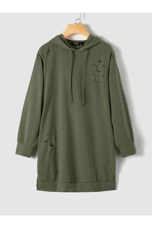 YOINS Hooded Design Pullover Hollow Design Long Sleeves Hoodie