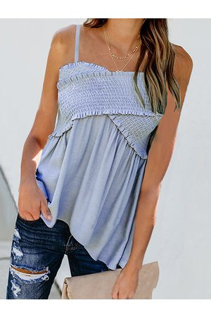 YOINS Pleated Design Sleeveless Cami