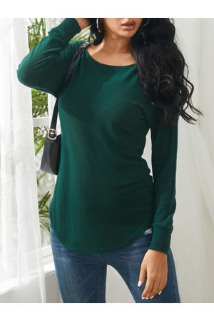 YOINS One Shoulder Long Sleeves Knitted Top