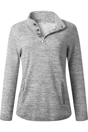 YOINS Button Design Long Sleeves Sweatshirt
