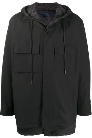 JUUN.J Flap pocket drawstring hood coat