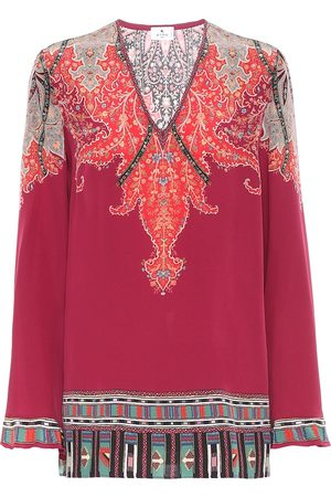 Etro Women Tops - Paisley silk top