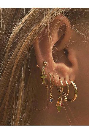 YOINS Alloy Gold Geometric Five-piece Earring