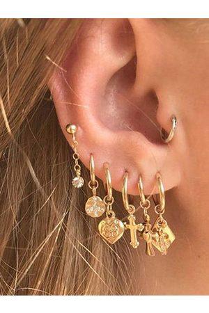 YOINS Gold Metal Geometric Seven-piece Earring