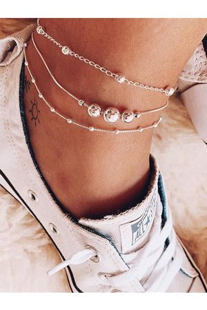 YOINS Sliver Beads Chain Anklet Set