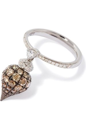 ANNOUSHKA 18kt white gold Touch Wood diamond ring