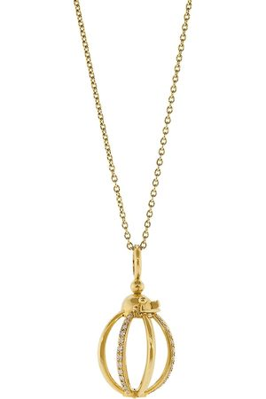 Katherine Jetter 18kt yellow gold diamond cage pendant necklace