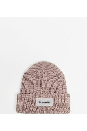 COLLUSION Unisex beanie in dusty