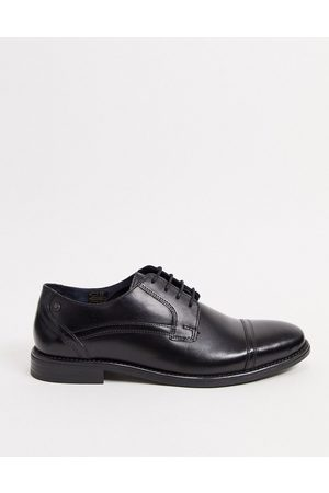 Base London Navara lace up toe cap shoes in leather