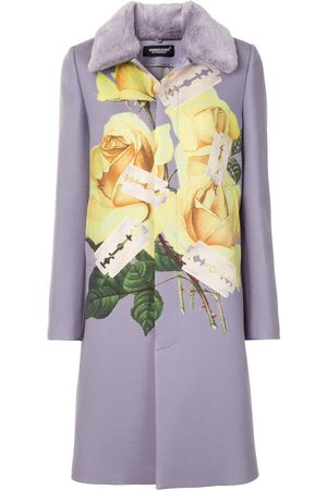 UNDERCOVER Rose-print single-breasted coat