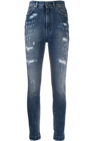 Dolce & Gabbana Distressed high-waisted jeans