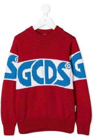 GCDS Colour-block logo jumper