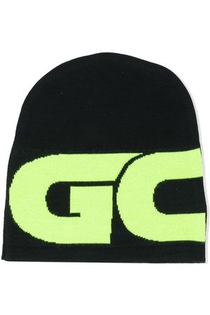 GCDS Colour-block logo beanie