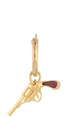 TRUE ROCKS Pistol charm single hoop earring