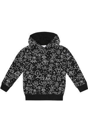 BONPOINT Printed cotton fleece hoodie