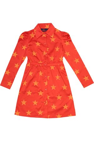 The Animals Observatory Dolphin printed satin shirt dress