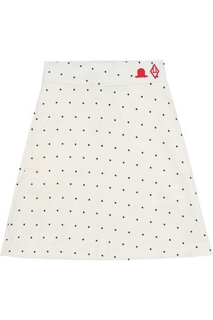 The Animals Observatory Swan polka-dot twill skirt