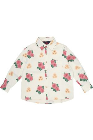 The Animals Observatory Wolf floral shirt