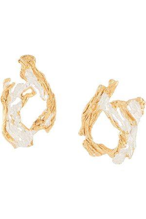 Lee Itsaso textured earrings