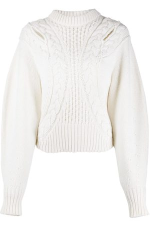Alexander McQueen Cut-out cable knit jumper
