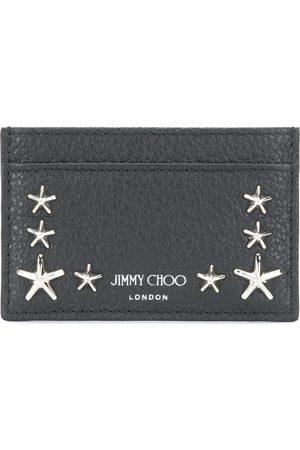 Jimmy Choo Men Wallets - Star studded leather card holder