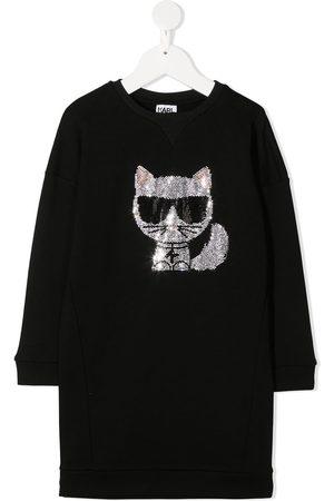 Karl Lagerfeld Oversized kitten logo sweatshirt