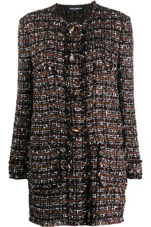 Dolce & Gabbana Single-breasted tweed coat