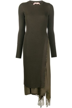 Nº21 Asymmetric knit dress
