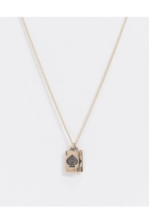 ASOS Skinny 1.5mm neckchain with playing card charms in tone