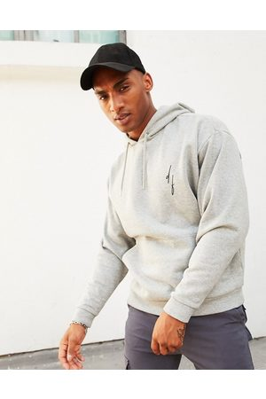ASOS Dark Future Oversized hoodie in marl with small logo