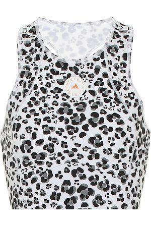 adidas TruePurpose leopard-print crop top