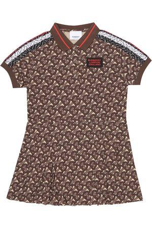 Burberry Monogram Stripe cotton polo dress