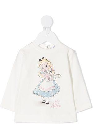 MONNALISA Alice print T-shirt