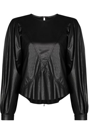 Isabel Marant Pouf sleeve faux leather top