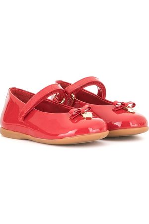 Dolce & Gabbana Touch-strap bow-charm ballerina shoes