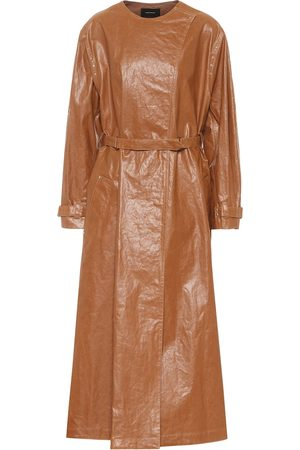 Isabel Marant Women Trench Coats - Corly linen-blend trench coat