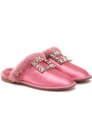 Roger Vivier Hotel Vivier Strass satin slippers