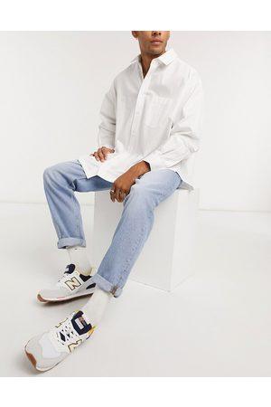 ASOS Straight crop jeans in vintage light wash